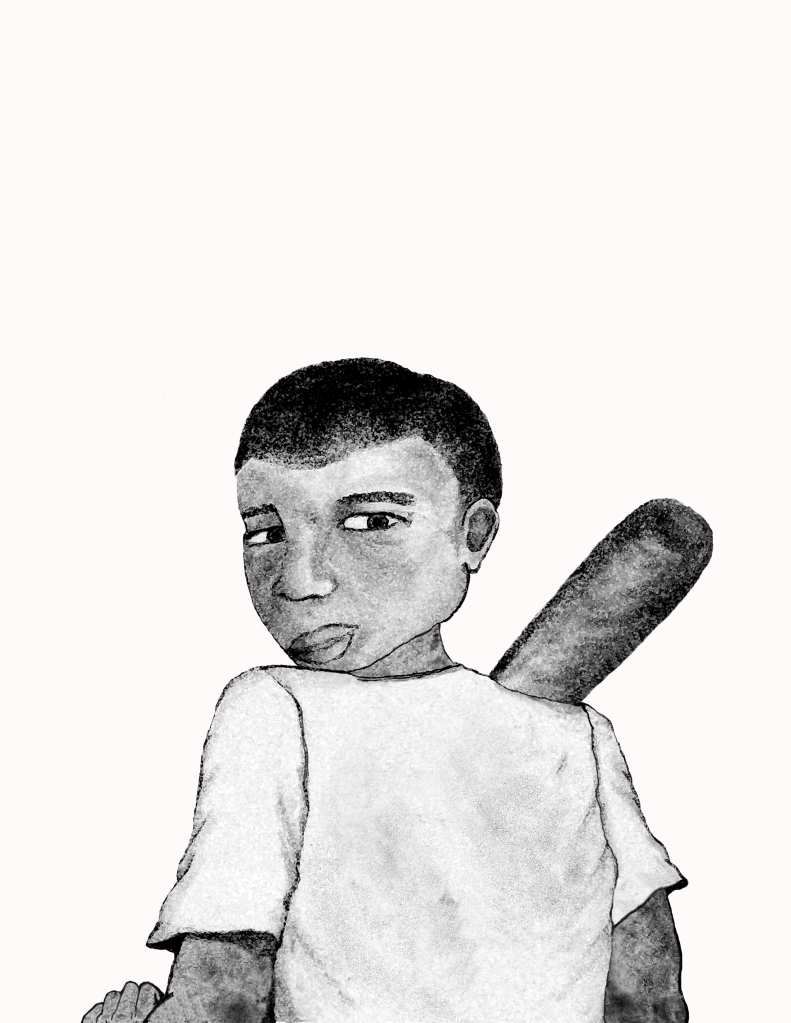 Juan with Bat and Hand copy